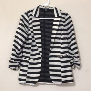 Slosh striped light weight jacket/ blazer